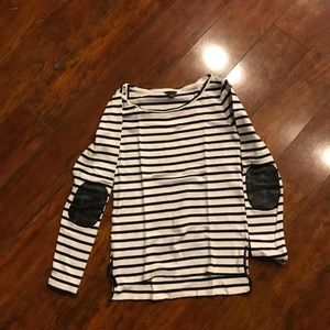 Ann Taylor Tops - Ann Taylor striped black and white long sleeve top
